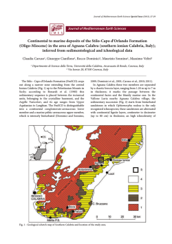 Continental to marine deposits of the Stilo-Capo d