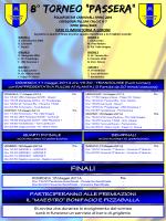 """8° torneo """"passera"""" - Polisportiva Carnovali"""