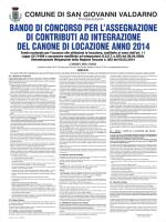 Manifesto Bando 2014 - Comune di San Giovanni Valdarno