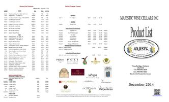 December 2014 - Majestic Wine Cellars