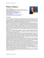 paolo tarolli - Dipartimento TESAF - Università degli Studi di Padova
