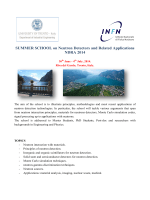 SUMMER SCHOOL on Neutron Detectors and Related Applications