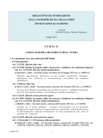 Bollettino di informazione sulla giurisprudenza delle Corti