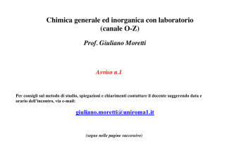 Avviso (C) - Dipartimento di Chimica