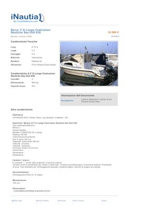Barca: F.lli Longo Costruzioni Nautiche Sea Gull 630