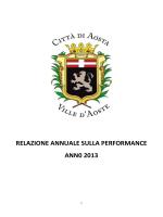 relazione annuale sulla performance ann0 2013