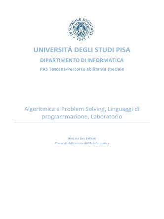 Algoritmica e Problem Solving, Linguaggi di programmazione
