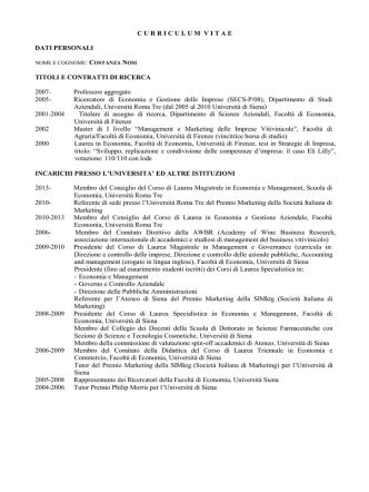 CV Nosi Costanza