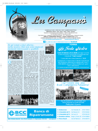 Agosto 2014 - Il Circolo storico della città d
