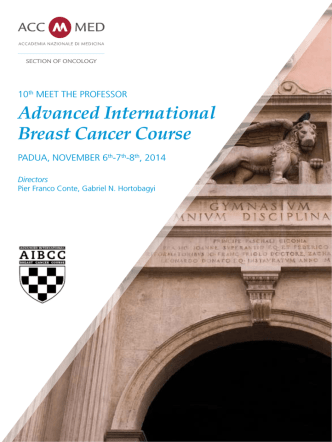 Advanced International Breast Cancer Course
