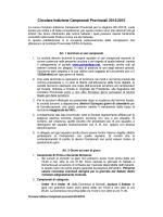 Circolare Indizione Campionati Provinciali 2014/2015