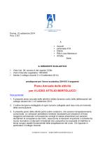 Piano Annuale delle attività per il LICEO ATTILIO BERTOLUCCI