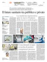 La medicina rigenerativa apre le nuove frontiere della