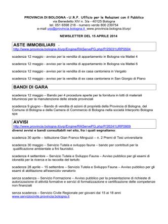 aste immobiliari - Provincia di Bologna
