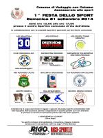 Manifesto Festa Sport - Comune di Veduggio con Colzano