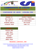 Calendario PRIMA FASE Calcio a 7 OVER 45