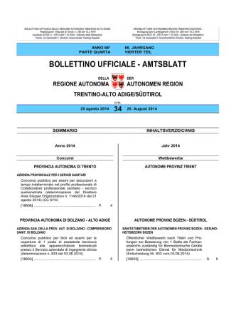 Bollettino n. 34 del 25 agosto 2014