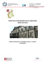 Piano anticorruzione 2013 - 2016