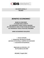 Bando benefici economici CIDiS