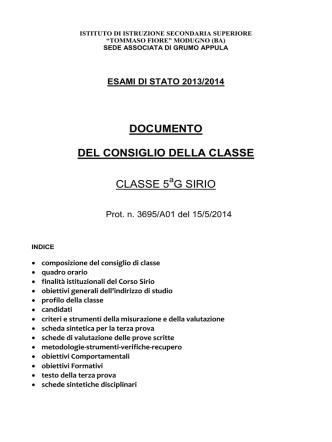 """5G Sirio - IISS """"T. Fiore"""", Modugno"""