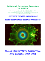 Natale POF 2014-15 - IIS A.Volta Sassuolo