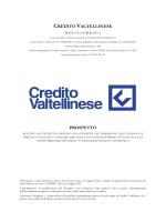 CREDITO VALTELLINESE PROSPETTO