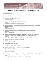 elenco partecipazioni a congressi 2014