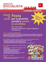 Bollettino PS Lugano Marzo 2014 - Partito Socialista
