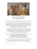 Per civile conversazione Con Amedeo Quondam