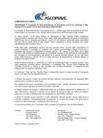Il Consiglio di Amministrazione di Ascopiave SpA ha nominato il Sig