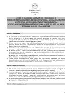 Il bando - Università degli Studi di Siena
