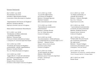 Calendario del Corso - Comune di Giugliano