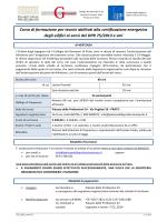 Corso di formazione per tecnici abilitati alla certificazione energetica