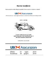Norme tariffarie e Tariffa RC Auto
