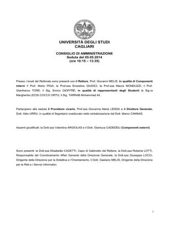 5 maggio 2014 - Università degli studi di Cagliari.