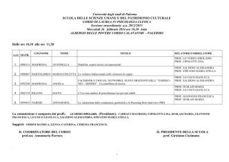 644. Psicologia clinica - Università di Palermo