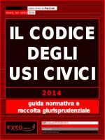 IL CODICE DEGLI USI CIVICI - 2014
