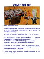 Canto Corale - Conservatorio Giacomo Puccini