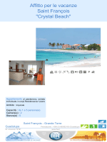 "Affitto per le vacanze Saint François ""Crystal Beach"""