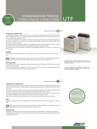 condensatori trifase three-phase capacitors utf