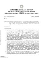 Circolare 4 marzo 2014 - Ministero della Difesa