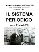 Il Sistema Periodico, Primo Levi - Settembre 2014