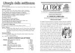 Bollettino settimanale della Parrocchia di Saccolongo