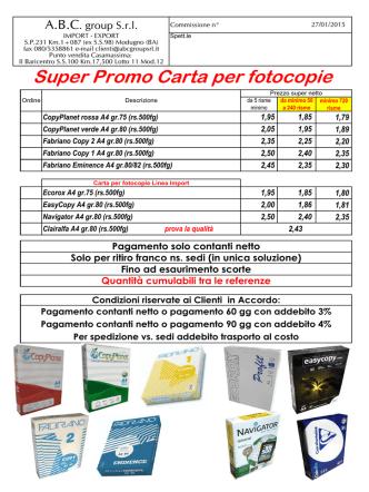 00 SuperPromo Carta per fotocopie