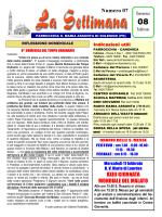 Numero 07 XXIII GIORNATA MONDIALE DEL MALATO