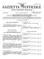 GAZZETTA UFFICIALE DELLA REGIONE SICILIANA – PARTE I n