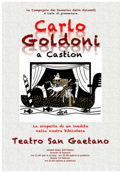 Carlo Goldoni a Castion