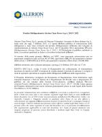 Prestito obbligazionario Alerion 2015-2022
