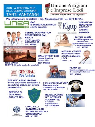convenzioni 2015 - Unione Artigiani Lodi e provincia