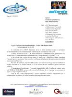 Napoli, 11/02/2015 Spett.li Società di appartenenza delle Atlete in